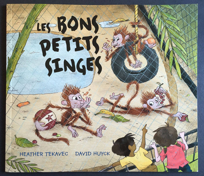 cover for French edition, Les bons petits singes